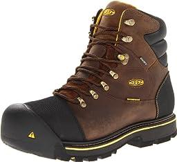 KEEN Utility Men\'s Milwaukee WP Wide Work Boot,Dark Earth,9 D US