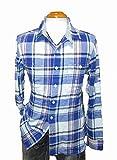 リーバイス ネルシャツ 白青  Levis メンズ 長袖シャツ ブルー ホワイト 冬物