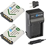 EforTek NP-BX1 Replacement Battery (2-Pack) and Charger kit Sony NP-BX1, NP-BX1/M8 and Sony Cyber-shot DSC-H400, DSC-HX50V, DSC-HX300, DSC-HX400, DSC-RX1, DSC-RX1R, DSC-RX100, DSC-RX100 II, DSC-RX100 III, DSC-RX100M2, DSC-RX100M3, DSC-WX300, DSC-WX350, HDR-AS10, HDR-AS15, HDR-AS30V, HDR-AS100V, HDR-AS100VR, HDR-CX240, HDR-MV1, HDR-PJ275