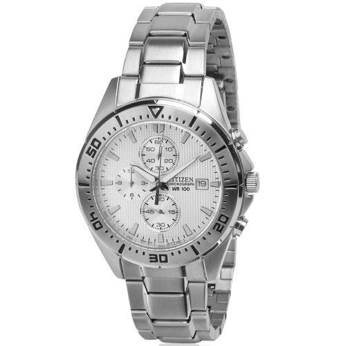 Citizen Quartz Sports Chronograph Black Dial Men'S Watch - An3460-56E