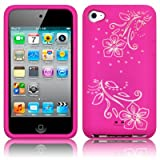 APPLE IPOD TOUCH 4TH GEN FLOWER SILICONE SKIN CASE WHITE / PINKby TERRAPIN