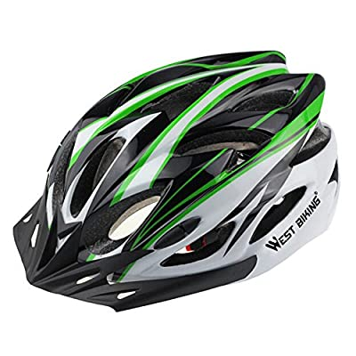 West Biking Cycle Helmets Bike MTB Road/Racing Foray Cycling Fraction Bicycle Helmet Riding Equipment Visor with Lining Pad Kask by West Biking