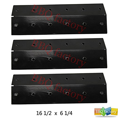 bbq factory Replacement Porcelain Steel BBQ Gas Grill Heat Plate / Heat Shield JPX131 (3-pack) Select Gas Grill Models By Select Coleman and Turbo Gas Grill and Others