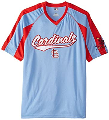 MLB St. Louis Cardinals Men's Pitch Perfection Coop Fashion Tops
