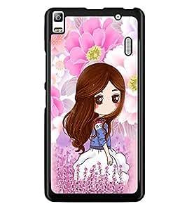 PrintDhaba Cute Girl D-4794 Back Case Cover for LENOVO K3 NOTE (Multi-Coloured)