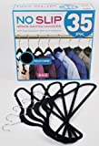 Pack Of 35 No Slip Space Saving Soft Touch Velour Coat Hangers - Navy