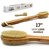 Luxury Bamboo Bath Brush Long 17