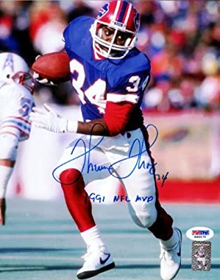 "Thurman Thomas Autographed 8x10 Photo Buffalo Bills ""1991 Nfl Mvp"" Psa/dna Stock #61904"