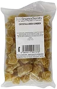 JustIngredients Essential Crystallised Ginger 400g (Pack of 3)