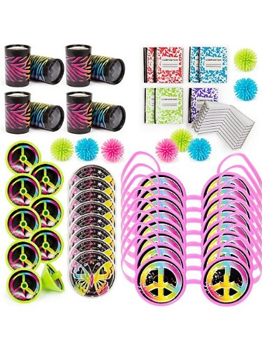 Neon Birthday Favor Pack (48 Pieces)