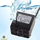 SunGrow Submersible 5W Aquarium Water Pump - Hydrodynamic Design Adjustable Water Flow Perfect for Both Freshwater and Saltwater Tanks - Max Flow Rate