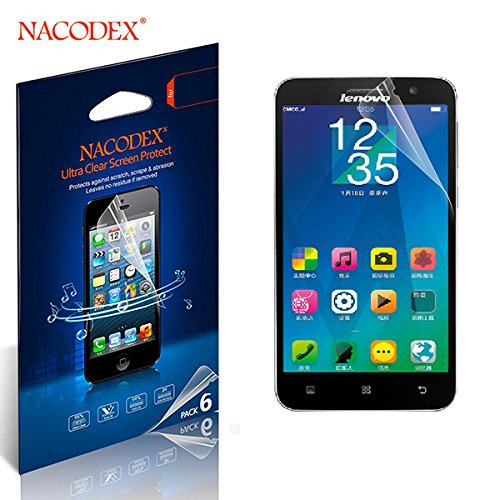 Nacodex® 6x Hd Clear Screen Protector Cover Film for Lenovo A8 A806 A808t