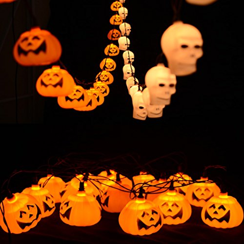 Sun Lorence Halloween Pumpkin LED String Lights For Home Holiday D¨¦cor B (Diy Group Halloween Costume Ideas)