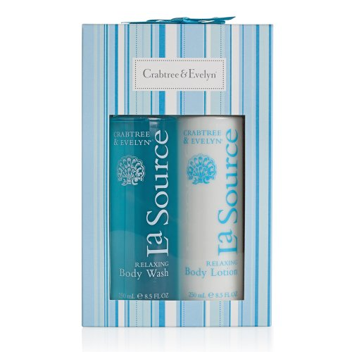 Crabtree & Evelyn La Source Duo 250ml Shower Gel and 250ml Body Lotion Body Gift Set