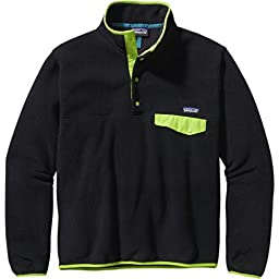 Patagonia mens LW Synch Snap-T P/O 25580-BGS_L - Black w/Peppergrass Green