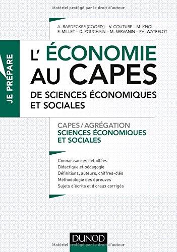 L'économie au CAPES de SES - Capes de Sciences économiques et sociales