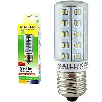 MAILUX 3,8 Watt Kolben E27 LED 370 lumen 2700°K