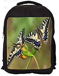 """Snoogg Amazing Butterflies Casual Laptop Backpak Fits All 15 - 15.6"""" Inch Laptops"""