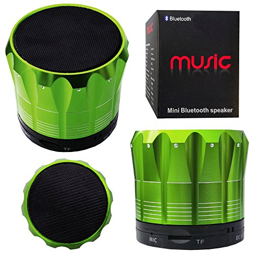 Halfdirect Original Wireless Hd S12 Mini Universal Bluetooth Speaker With Mic / Speaker Phone For All Samsung Galaxy, Apple Iphone, Ipad, Htc One, Zte, Moto, Nokia Phone Models. (Green)