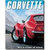 Chevrolet Chevy Corvette State of Mind Retro Vintage Tin Sign