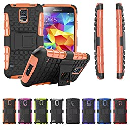 [For Samsung Galaxy S5 ]Rugged Holster Heavy Duty Armor Shield 2-in-1 Hybrid Dual Layer Kickstand Case Cover Skin by Arcraft(TM)