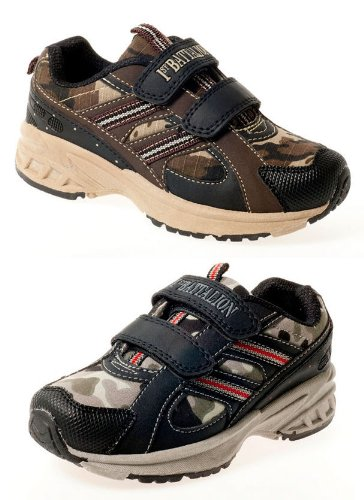 Small and Older Boys Velcro Leather Look Army Camouflage Trainers Beige Grey Size 8 9 10 11 12 13 1 2