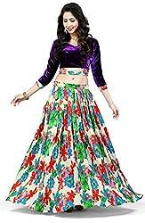 Sanjana Designer Women's Criz Viscos Velvat Party Wear Crafted Style Lengha choli