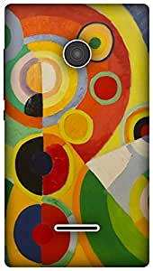 The Racoon Lean Rythme, Joie de vivre hard plastic printed back case / cover for Microsoft Lumia 532