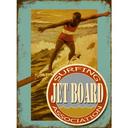 Jet Board Surfing Association Metal Sign, Large