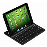 koolertron iPad Mini アルミ ワイヤレスキーボード 保護ケースにもなる  アルミ材質+スクリーム保護+内臓電池スタンド機能! 全2色 (ブラック)