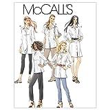McCall's Patterns M6124 Misses'/Miss Petite/Women's/Women's Petite Shirts in 3 Lengths, Size RR (18W-20W-22W-24W) (Tamaño: RR (18W-20W-22W-24W))