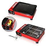 Rsonic Rot Camping Gasgrill ohne gas kartuschen ★ Red Tischgrill