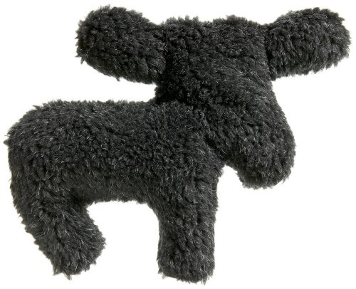 West Paw Design Li¿l Madison Moose Squeak Toy for Dogs, Charcoal