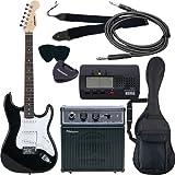 SELDER エレキギター ストラトキャスタータイプ ST-16 初心者入門ベーシックセット /ブラック(9707007420)