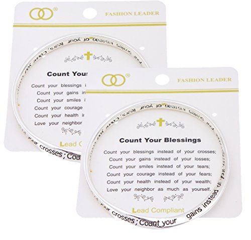 inspirational quote poem engraved count your blessings