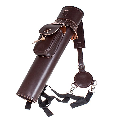 G4Free Back Quiver Made by Microfiber Leather Three fixed-back Archery