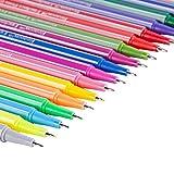 0.4ミリメートル線幅 デッサンのグラフィックペン 水性ペン カラーペン 手帳用ボールペン 子供&大人の塗り絵18色
