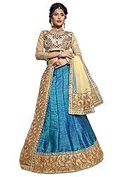 Silvermoon women's Banarasi Silk Embroidered heavy lehenga choli-sm_MIRNA87_Blue_free size
