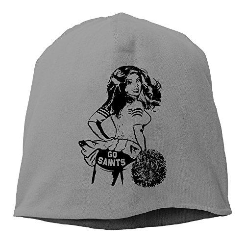 Cheerleaders Go Saints Unisex Printing Beanie Ski Hat Dress Limited Edition Fleece Beanie Hat (Evil Cheerleader Dress)