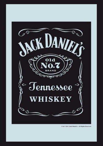"""Empire 544247 - Specchio stampato """"Jack Daniel's"""" con cornice in plastica effetto legno, 30 x 40 cm"""