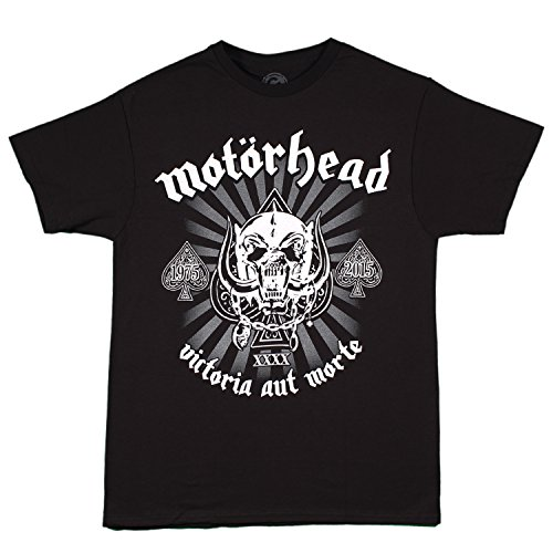 Motorhead - 40th Anniversary Logo t-shirt, Size: Large, Color: Black (Tshirt Motorhead compare prices)