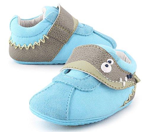 Cartoonimals Scarpe bimbo bebé primi passi Unisex prima infanzia antiscivolo Suola in Gomma Croco Turquoise 17