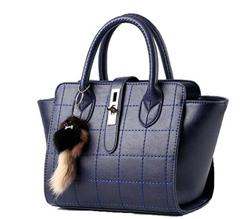 koson-man-womens-pu-leather-vintage-fox-decorate-tote-bags-top-handle-handbagnavy
