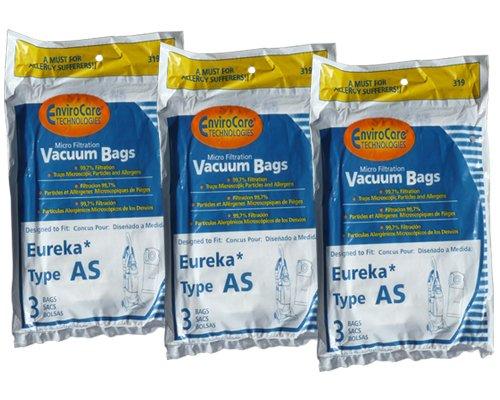 9 Eureka Upright AirSpeed (AS) Vacuum Cleaner Allergy Bags, 68155-6, 68155, 66655, 67726, Filtrete - 21-2440-06, 84404, Airspeed Pet Bagged, Air Speed Upright (Filtrete Eureka As Vacuum Bags compare prices)
