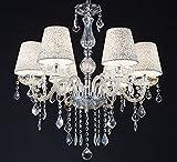 MELION-Ø60 cm Kristall Kronleuchter Deckenleuchter Lüster Leuchte Lampenschirme