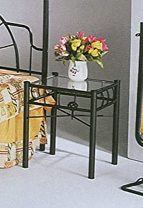 Modern Style Black Iron Wrought Metal Night Stand
