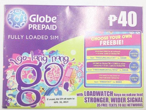 Globe プリペイド用SIMカード 2G通信規格専用(GSM)6034