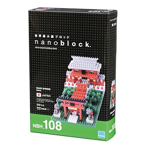 Kawada NanoBlock - NBH-108 - Inari Shrine Micro Block Sights to See Puzzle 530 Piece