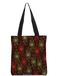 Snoogg Colorful Floral Seamless Pattern In Cartoon Style Seamless Pattern Designer Poly Canvas Tote Bag - B012FUHQJU