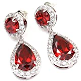 FC White Gold GP CZ Red Ruby Color Swaro...